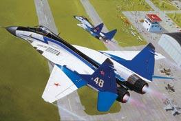 """МИГ-29 Акробатичен самолет на формация """"Стрижи"""""""