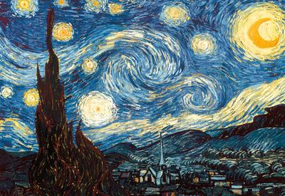 Картонен пъзел Звездна нощ, Винсент ван Гог