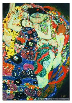 Картонен пъзел Девицата, Густав Климт
