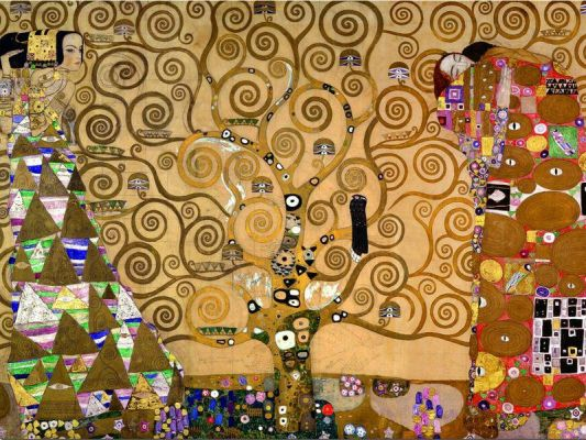Картонен пъзел Дървото на живота, Густав Климт