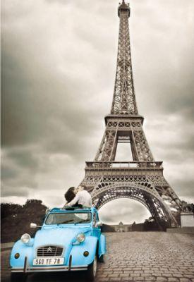Картонен пъзел Айфеловата кула, Париж