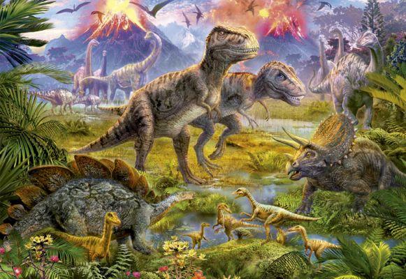 """Картонен пъзел """"Среща на динозаврите"""" - 500 части"""