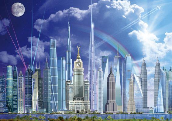 """Картонен пъзел """"Високи сгради"""" - 1000 части"""