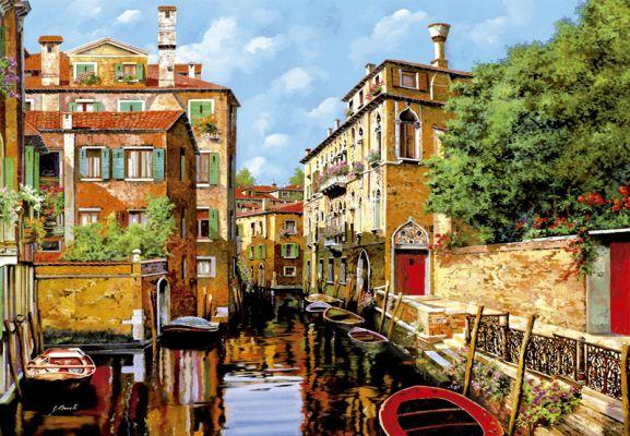 """Картонен пъзел """"Светлина във Венеция"""" - 2000 част, художник Гуидо Борели"""