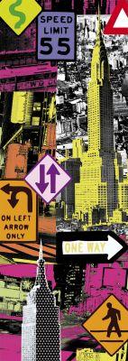 """Картонен панорамен пъзел """"Ню Йорк Поп арт"""" - 2000 части"""