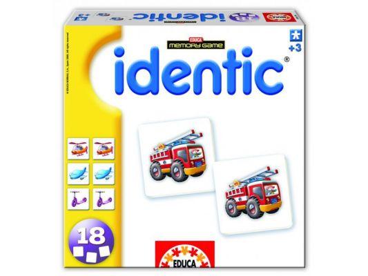 """Игра с карти """"IDENTIC Memory - ПРЕВОЗНИТЕ средства"""", за деца от 3 до 6 години"""