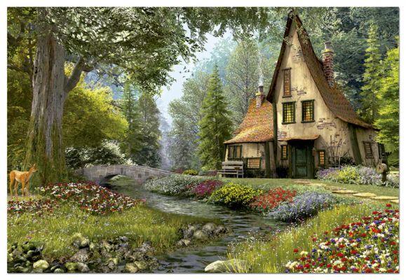 """Картонен пъзел """"Селска къща"""" - 6000 части"""