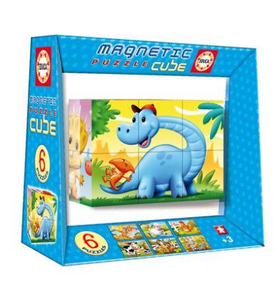 Пъзел магнитни кубчета - Динозаври
