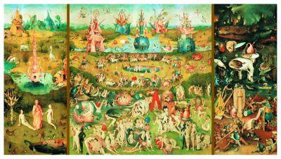 Картонен пъзел Градината на земните удоволствия