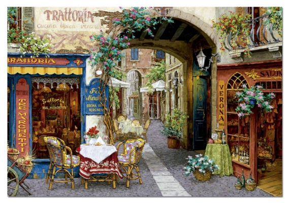"Картонен пъзел ""Trattoria tre marchetti"", художник Виктор Швайко - 1000 части"