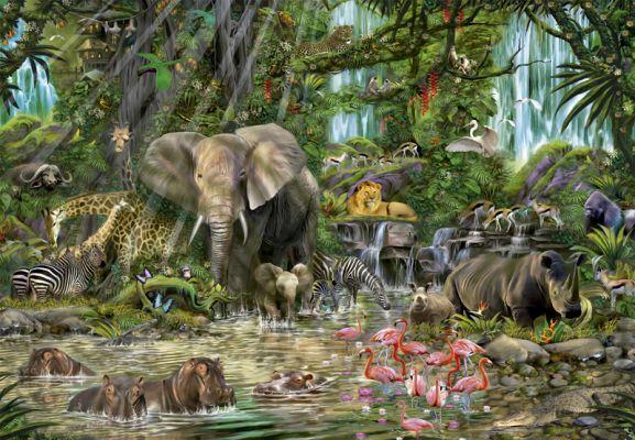 """Картонен пъзел """"Африканска джунгла"""" - 2000 части"""