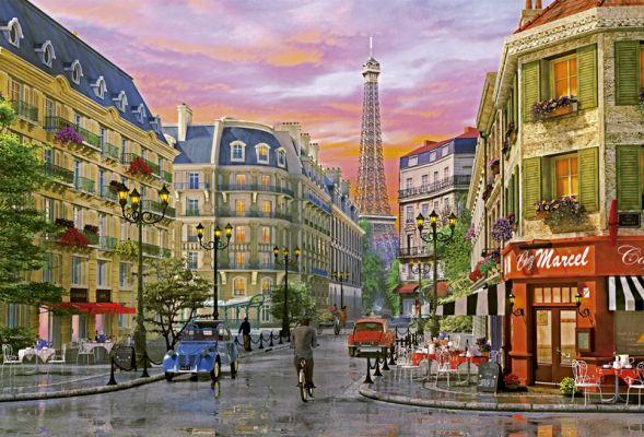 "Картонен пъзел ""Rue Paris (Улица Париж)"", художник Д. Дейвисън - 5000 части"