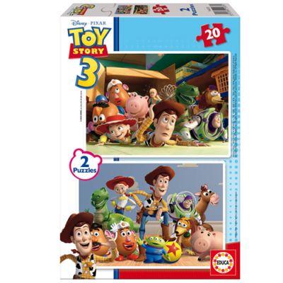 """2 пъзела по 20 части """"Играта на играчките 3"""", за деца от 3 до 5 години"""