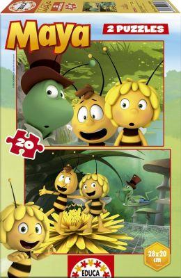 """2 пъзела по 20 части """"Пчеличката Мая"""", за деца от 3 до 5 години"""