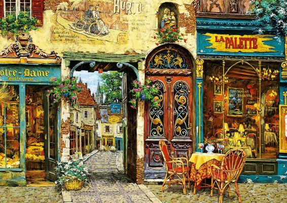 """Картонен пъзел """"La Palette Notre Dame"""", художник Виктор Швайко - 1000 части"""
