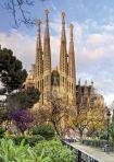 """Картонен пъзел """"Sagrada familia"""" (Светото семейство) в Барселона, Испания - 1000 части"""